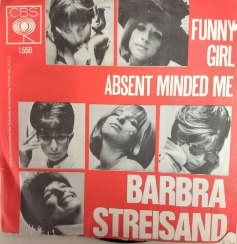 C10 Barbra Streisand Picture Sleeve FUNNY GIRL-ABSENT MINDED ME HOLLAND CBS1.550