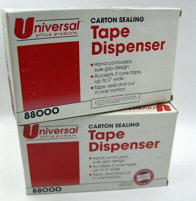 New In Box 2 Pack Lot Universal 88000 Carton Sealing Tape Dispenser 3 Core