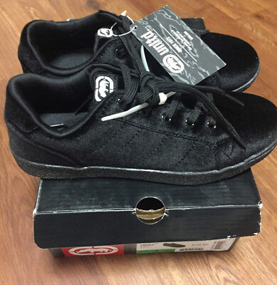 Ecko Unltd. Girls Youth Lace Up Black 78952 Medium Width Velvet Size 13 1 3 4 5