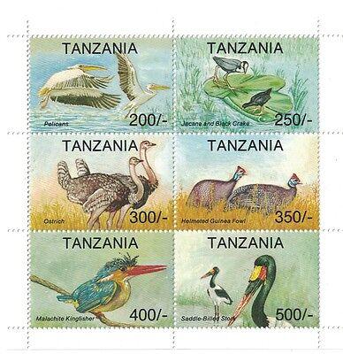 [D] TANZANIA - 1994 BIRDS - SC 1106 SHEET OF 6 MNH