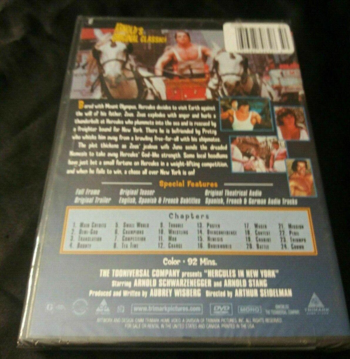 Hercules In New York NEW DVD Sealed Arnold Schwarzenegger Original Audio Classic - $13.00