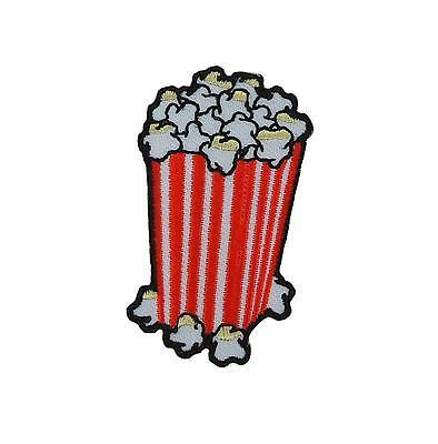 aufnäher flicken bestickt rucksack jacke daunenjacke couture popcorn tasche