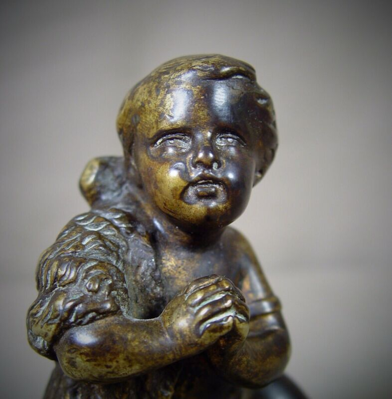 Antique Bronze Of The Young St. John