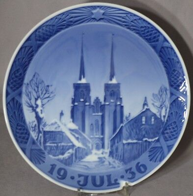ROYAL COPENHAGEN 1936 Christmas Plate – Roskilde Cathedral
