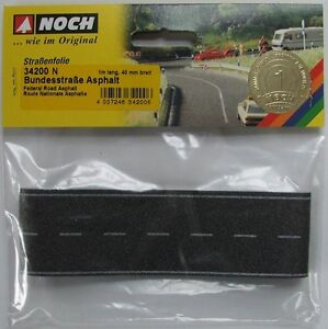 NOCH 34200 Self Adhesive Asphalt Road 'N' Gauge Model Rail