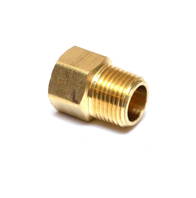 """1/2"""" Female to 1/2"""" Male NPT Pipe Adapter Brass Water Oil Gas Air"""
