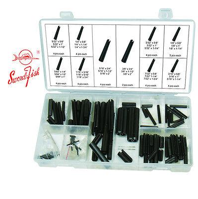 Swordfish 31190 - 120pc Black Oxide Finish Spring Steel Roll Pin Assortment