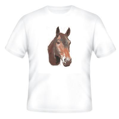 Nature Pets Animals T-shirt Brown Horse Head Horse Head T-shirt