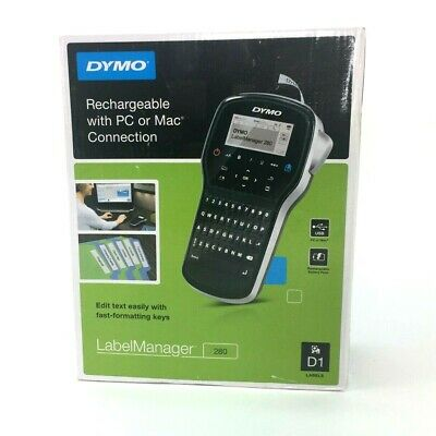 Dymo Labelmanager 280 Label Maker Printer Rechargeable Pc Or Mac