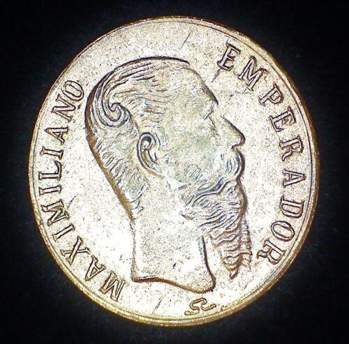 1865 MEXICO MAXIMILIANO WEDDING TOKEN MEDAL 10mm 22K GOLD