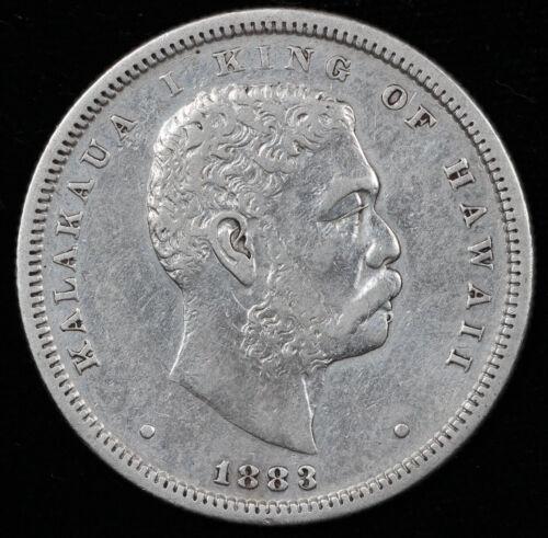 1883 50c Kalakaua King of Hawaii Half Dollar UNSLABBED