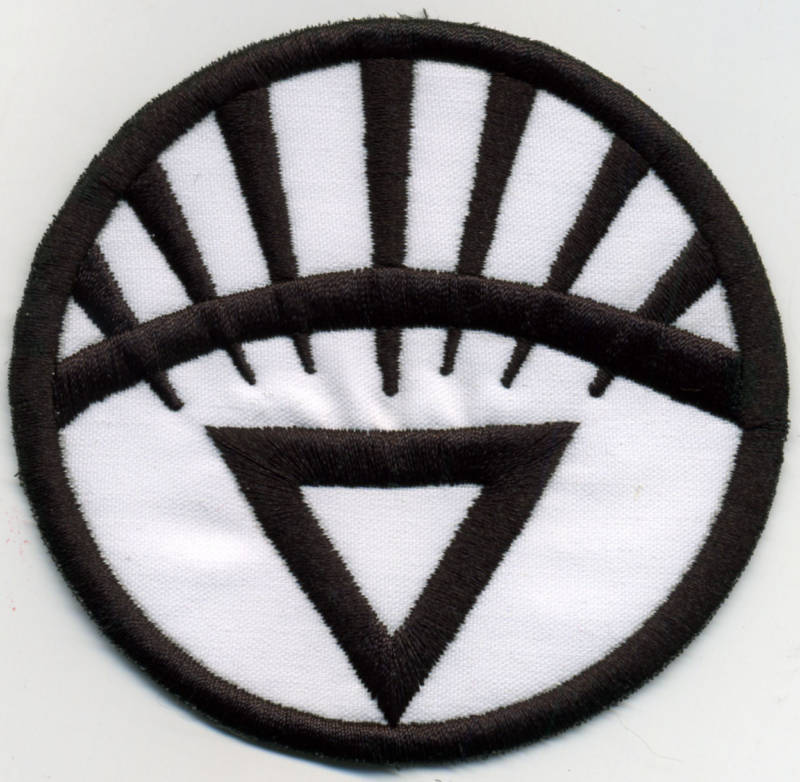 """2.5"""" White Lantern Corps Classic Style Embroidered Iron-on Patch"""