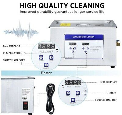 Anbull 30l Professional Commercial Ultrasonic Parts Cleaner Digital Timer Heater