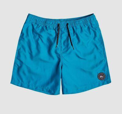 $124 Quiksilver Men Blue Surf Swimming Swimwear Swim Trunks Board Shorts Size XL