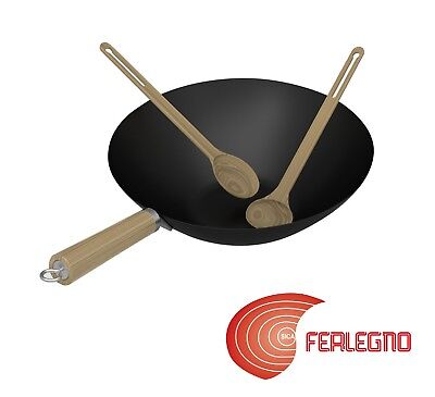Wok Topf Gusseisen Antihaft für Grill BBQ Grill Kulinarisches Modular Campingaz (Kulinarische Topf)