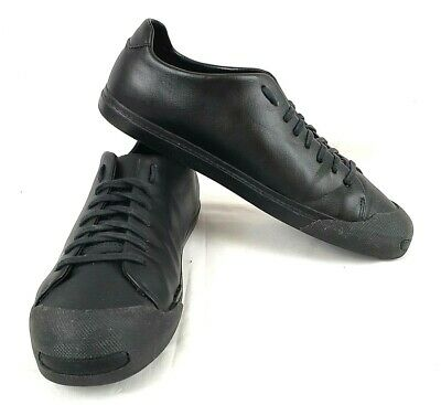 Zara Man Casual Black Leather Lace Up Low Top Sneaker Shoes Size EUR 45