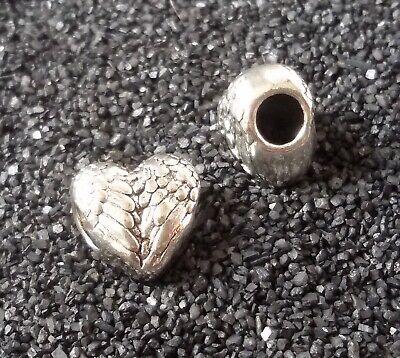 5/10/20/30 Flügel Herz Beads Großloch Perlen Paracord Armband Großlochperlen H09
