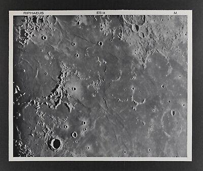 1960 Lunar Moon Map Photo E5-a McDonald Observatory Plate M191 Craters Astonomy
