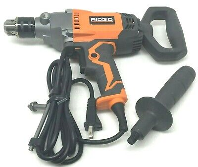 Used 1 Ridgid 12 Spade Handle Corded Drill Mud Mixer Plaster Concrete R7122