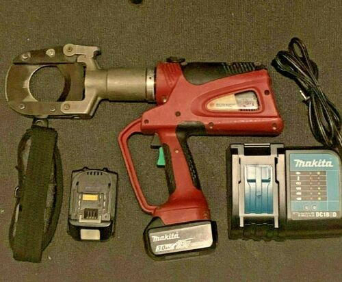 Burndy Patriot PATCUT245LI Hydraulic Cable Cutter Tool w/ Batteries & Charger