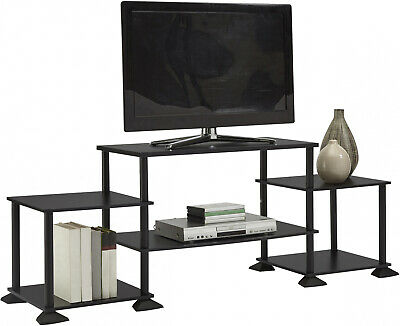 TV Stand Entertainment Center Media Console Furniture Wood Storage Cabinet Black Cherry Entertainment Tv Stand