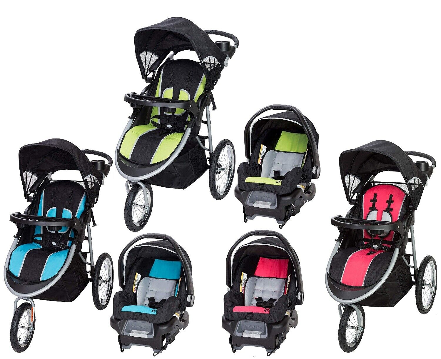 All Colors Stroller with Car Seat Baby Trend Pathway 35 Jogg