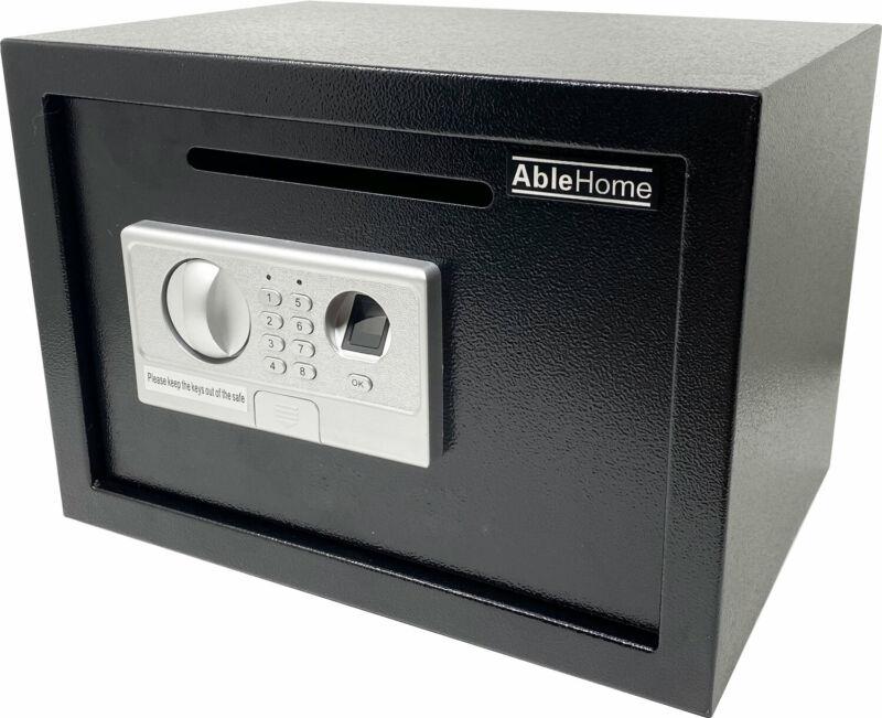 BIOMETRIC FINGERPRINT ELECTRONIC DIGITAL CASH DROP DEPOSITORY SAFE SECURITY