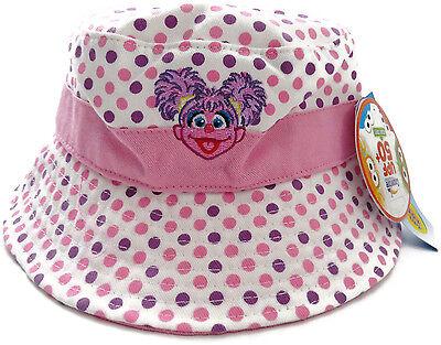 Sesame Street ABBY CADABBY Bucket Sun HAT Polka Dot Summer New One size Small](Abby Cadabby Hat)