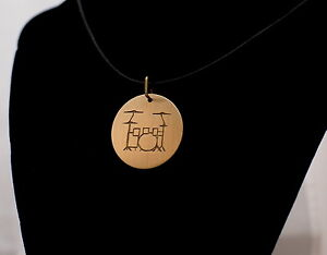 Hand-Made-Etched-Drum-Set-Pendant-made-from-Recycled-Bronze-Cymbal-with-Necklace