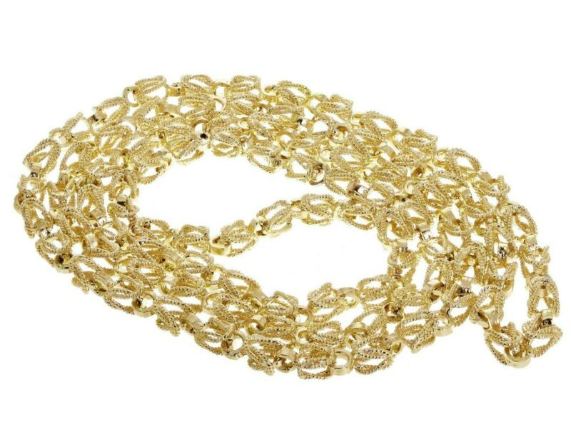 "Men's 10k Yellow Gold Turkish Link Chain Necklace 24"" 5mm - 42 grams"
