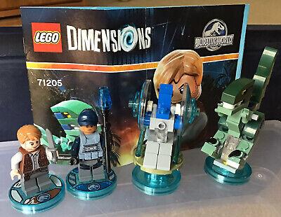 LEGO Dimensions Jurassic World Team Pack 71205 Complete Owen Trooper Dino Gyro