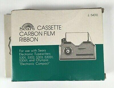Sears 3-54010 Black Cassette Carbon Film Ribbon
