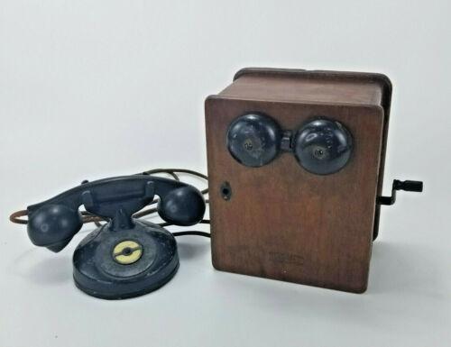 ATQ Western Electric Magneto Crank Wood Ringer Box Kellogg Masterphone Telephone