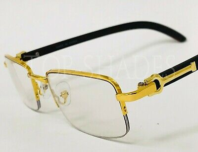 - Hip-Hop Buffs Migos glasses Quavo Square New Rimless Gold Frame Clear Shades