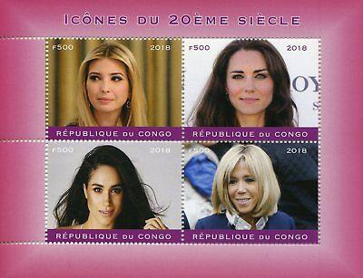 Congo 2018 MNH Ivanka Trump Kate Middleton Meghan Markle 4v M/S I Stamps