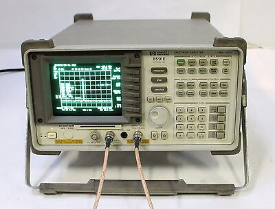 Hp Agilent 8591e 9 Khz - 1.8 Ghz Spectrum Analyzer Options 001 004 101 102 107