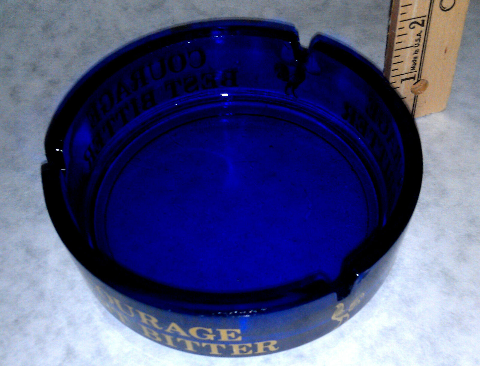 Courage Best Bitter with Rooster emblem Ash Tray Ashtray Vintage collectible New