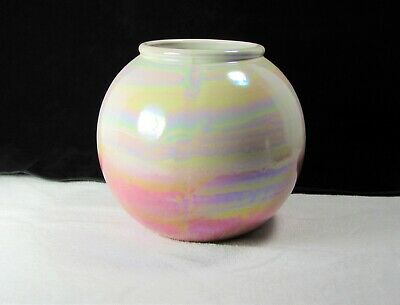 Scheurich West Germany Pottery Vase – Beautiful Multicolored Iridescent Glaze