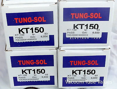 Tung-Sol Factory Platinum Matched QUAD 4 NEW KT150 KT 150 Tubes 24hr Burn-In