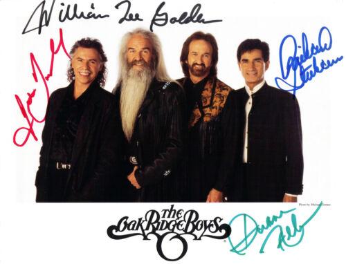 The Oak Ridge Boys 8.5x11 Signed Autograph RP [Mint]