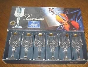 New - Six Cristal d'Arques Longchamp liquore glasses. Thornbury Darebin Area Preview