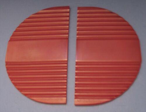 Set Two Plastic Half Moon Door Panels from 1939 Mills Zephyr Jukebox