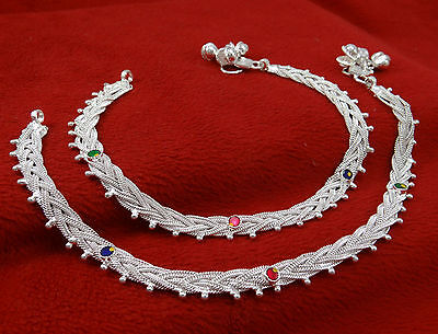 Ethnic Indian Traditional Silver Tone Barefoot Bracelet Anklet Women Jewelry
