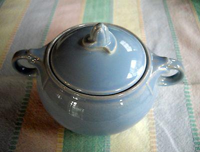 Vintage TS&T Lu-Ray Pastels Light Blue Sugar Bowl w/Lid  ~