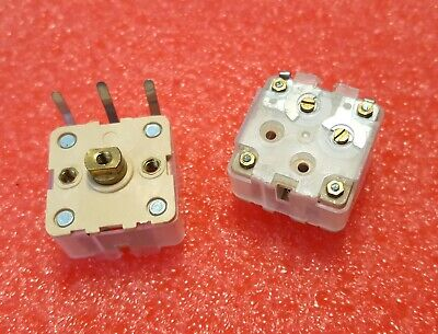 2 Pcs Cbm-223p 2-section 223p Variable Tuning Capacitors For Am Radio- Usa Ship