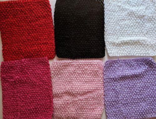"10pc Crochet Waffle Tutu Tops,9"",Black,White,Pink,Red,Purple,Girls,Wholesale Lot"
