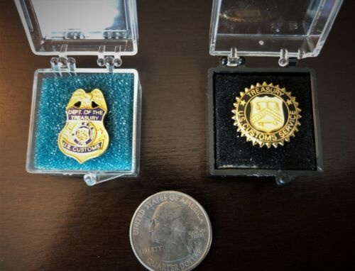 Rare - US Customs Lapel Pin Set