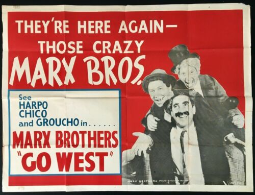 Marx Brothers Go West (1940) - 30 x 40 inch Quad poster