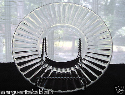 """Jeannette Glass Clear National 8"""" Salad Plate"""