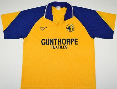 1991-1992 MANSFIELD TOWN RIBERO HOME FOOTBALL SHIRT (SIZE L) image